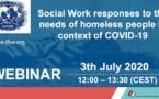 Webinaire IFSW - Les réponses des travailleurs sociaux aux besoins des sans-abri - COVID-19