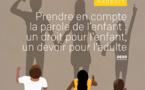 """Rapport annuel sur les droits de l'enfant 2020, """"Prendre en compte la parole de l'enfant : un droit pour l'enfant, un devoir pour l'adulte"""""""