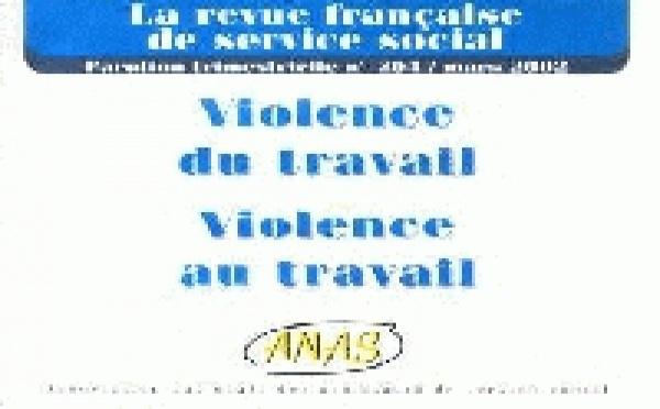 Violence du travail... Violence au travail