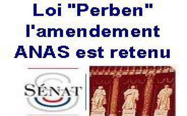 L'amendement proposé par l'ANAS retenu