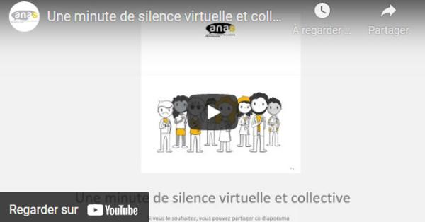 Une minute de silence virtuelle et collective en hommage à Audrey ADAM